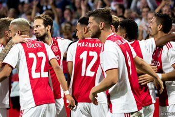 Ajax spelers doelpunt